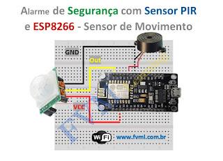 Alarme de Segurança com Sensor PIR e ESP8266 - Sensor de Movimento