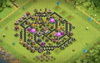 Town hall 8 Farming Base layout