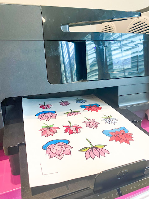 silhouette print and cut, print and cut, sticker paper, stickers, Home Printer, glossy sticker paper