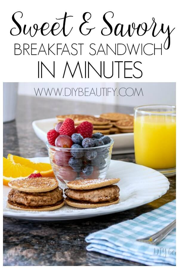 easy sweet and savory breakfast sandwich recipe