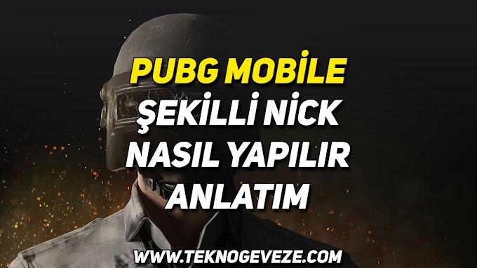 PUBG Mobile Şekilli Nick Yapımı