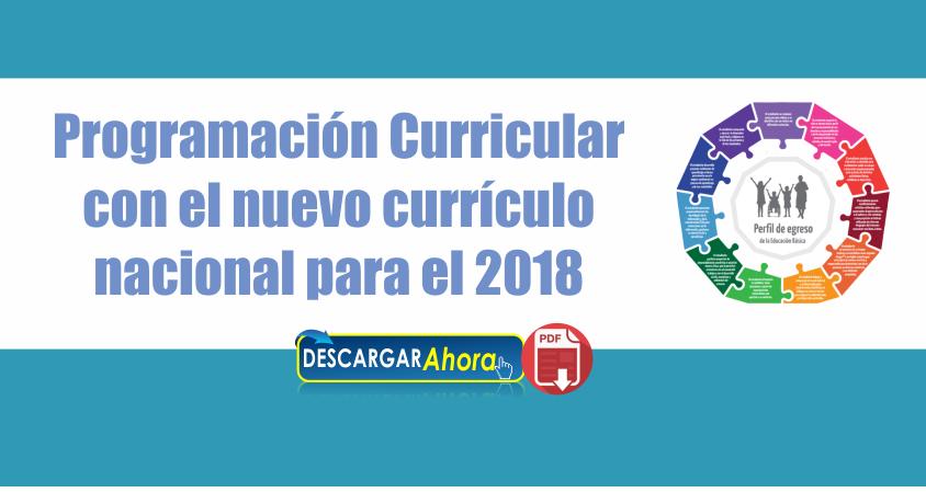 Programaci n curricular con el nuevo curr culo nacional for Nuevo curriculo de educacion inicial