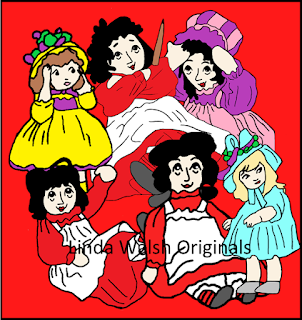 Raggedy Stories Dollies Inspired Free Coloring Pages #1