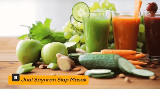 9. Jual Sayuran Siap Masak