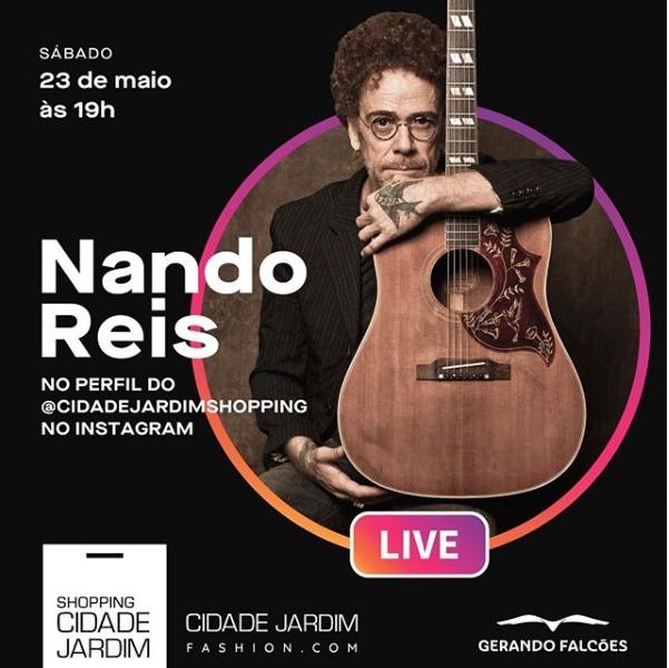 23/05/2020 Live Show do Nando Reis no Instagram [sábado - 19 horas] HOJE