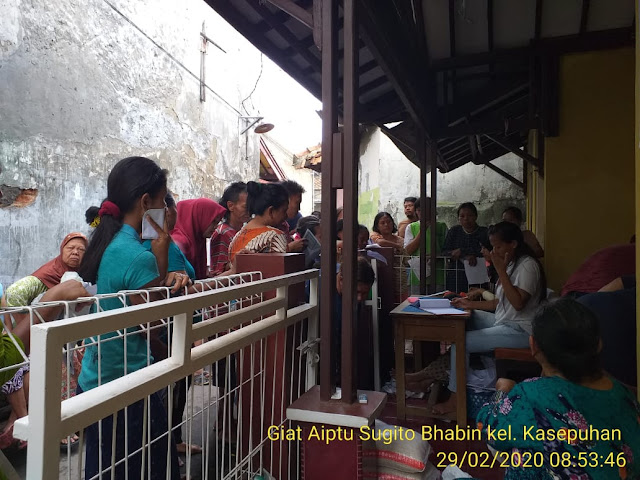 Kapolsek Lemah Wungkuk Polres Cirebon Kota, Wasdal Penyaluran PBS Melalui Bhabinkamtibmas Kelurahan Kasepuhan