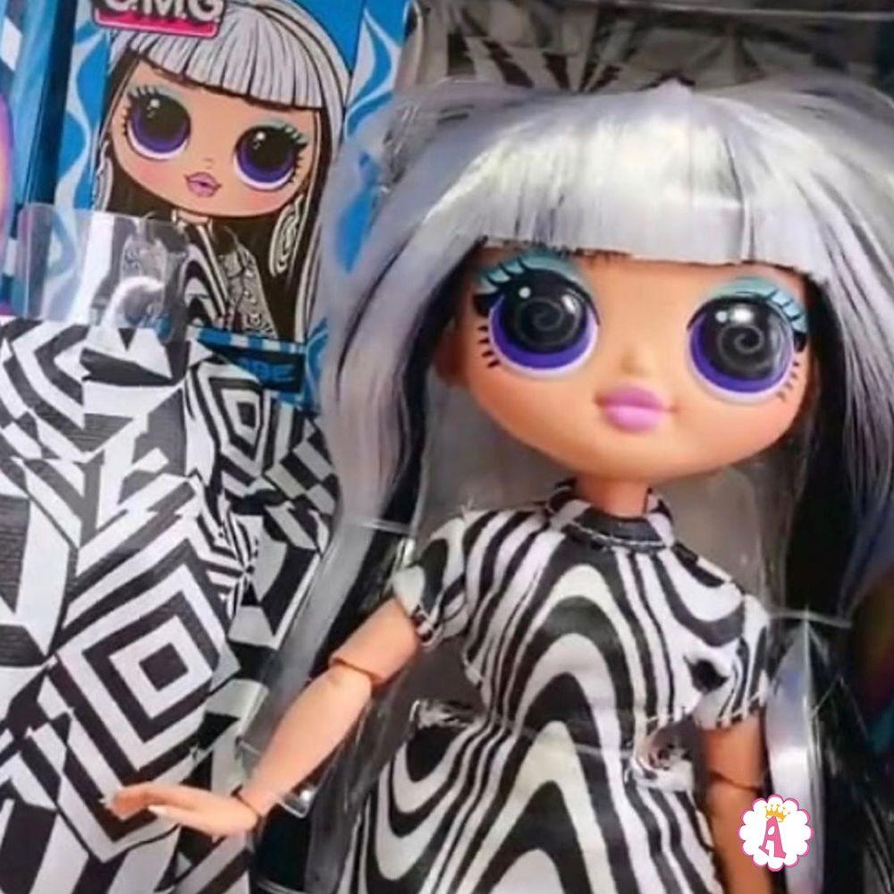 Новая шарнирная кукла L.O.L. Surprise O.M.G. Lights Groovy Babe светится в ультрафиолете