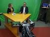 O prefeito de Japi concede entrevista para Tv Futuro filial da Tv Cultura em Natal-RN.