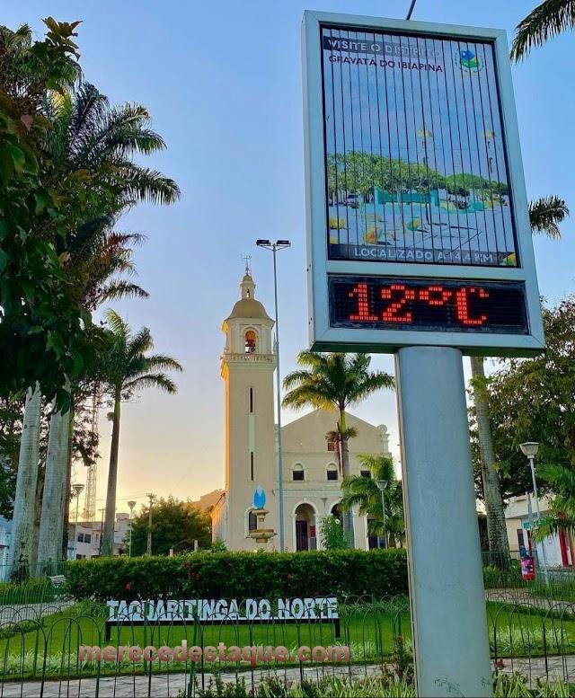 Taquaritinga do Norte registrou a menor temperatura do ano nesta segunda-feira (02/08)