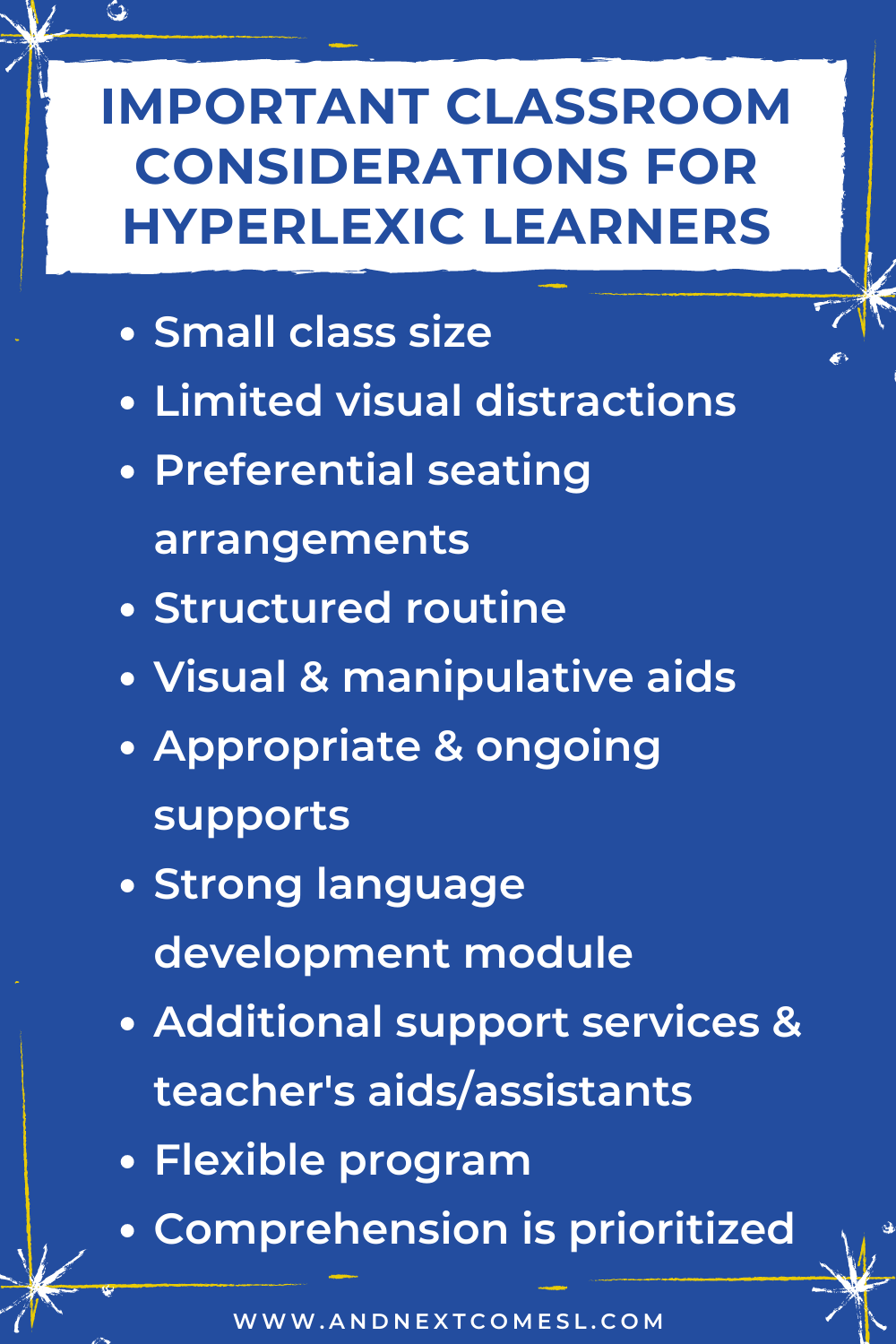 A list of things to consider when it comes to school for hyperlexic learners
