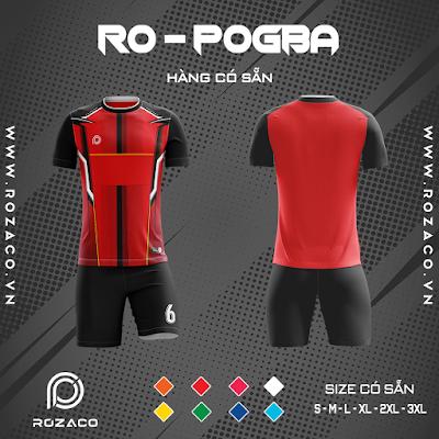 Áo Không Logo Rozaco RO-POGBA Màu Đỏ