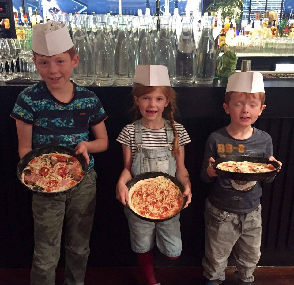 Pizza Making at Babucho Newcastle | Children's Menu & Lunch Review - our pizzas