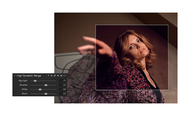 High Dynamic Range Menu with Capture One