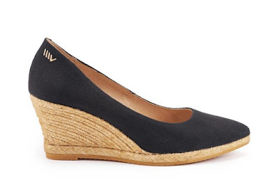 Roses Canvas Wedges - Black | Viscata