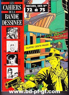 Les cahiers de la bande dessinée, recueil de 72 à 75
