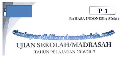 Download Naskah Asli Soal UN/USBN/ UASBN SD/MI Mata Pelajaran Bahasa Indonesia Tahun 2008,2009,2010,2011,2012,2013,2014,2015,2016,2017