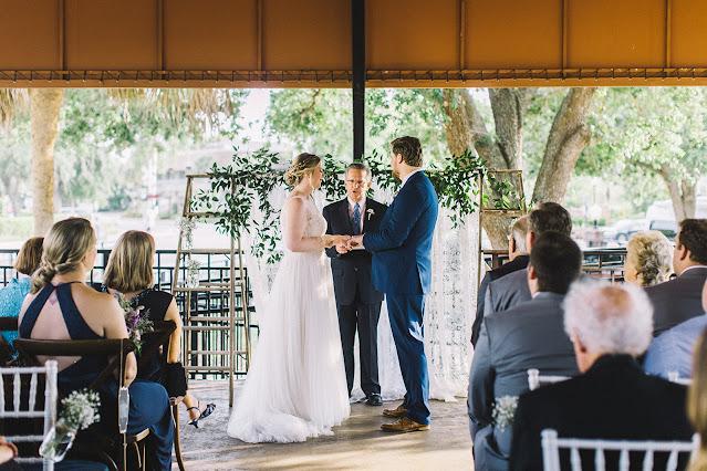 wedding ceremony at winter park farmers market