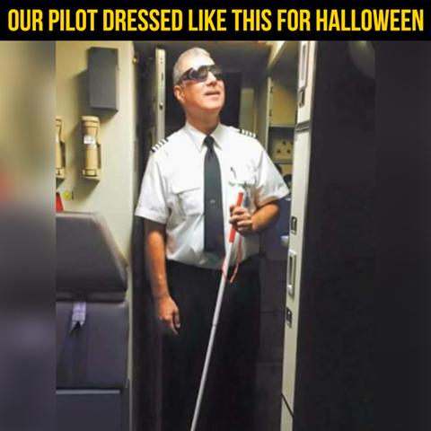 Best Pilot Halloween Costume Ever Funny Joke Picture