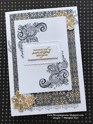 art deco card using stampin up products with zoe tant