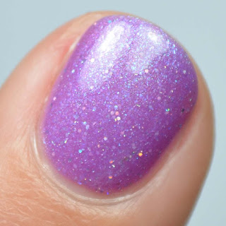 purple to pink thermal nail polish