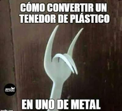 Cómo convertir un tenedor de plástico en uno de metal