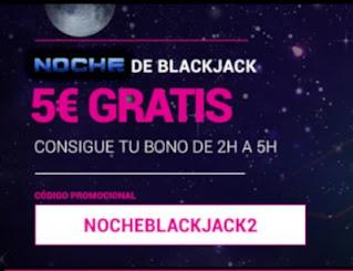 GoldenPark bono 5 euros gratis Blackjack 5 enero 2021