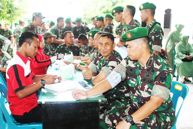 Kodim Aceh Timur Sumbangkan 190 Kantong Darah