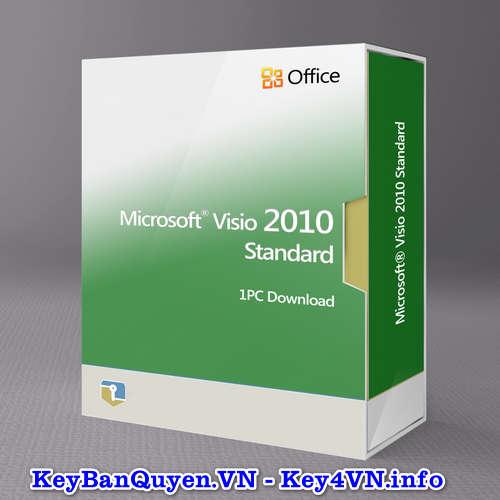 Mua bán key bản quyền Visio Standard 2010 Full 32 và 64 Bit .