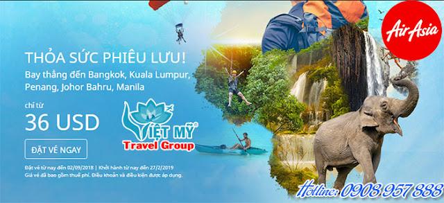 Khuyến Mãi Air Asia Thỏa sức phiêu lưu