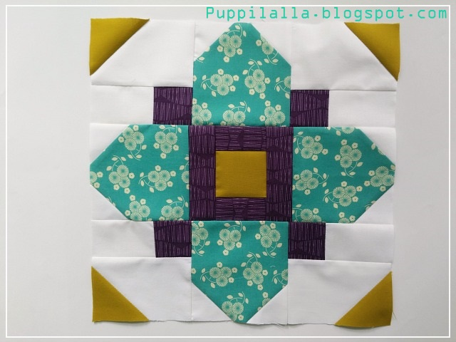 Puppilalla, Quatrefoil Block, Stash Bee, Quilting Bee, Patchwork