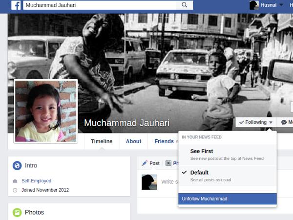 Alasan Saya Unfollow Teman di Facebook