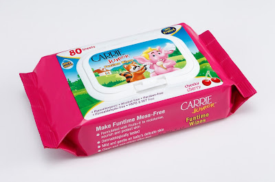Carrie Junior funtime wipes - cheeky cherry