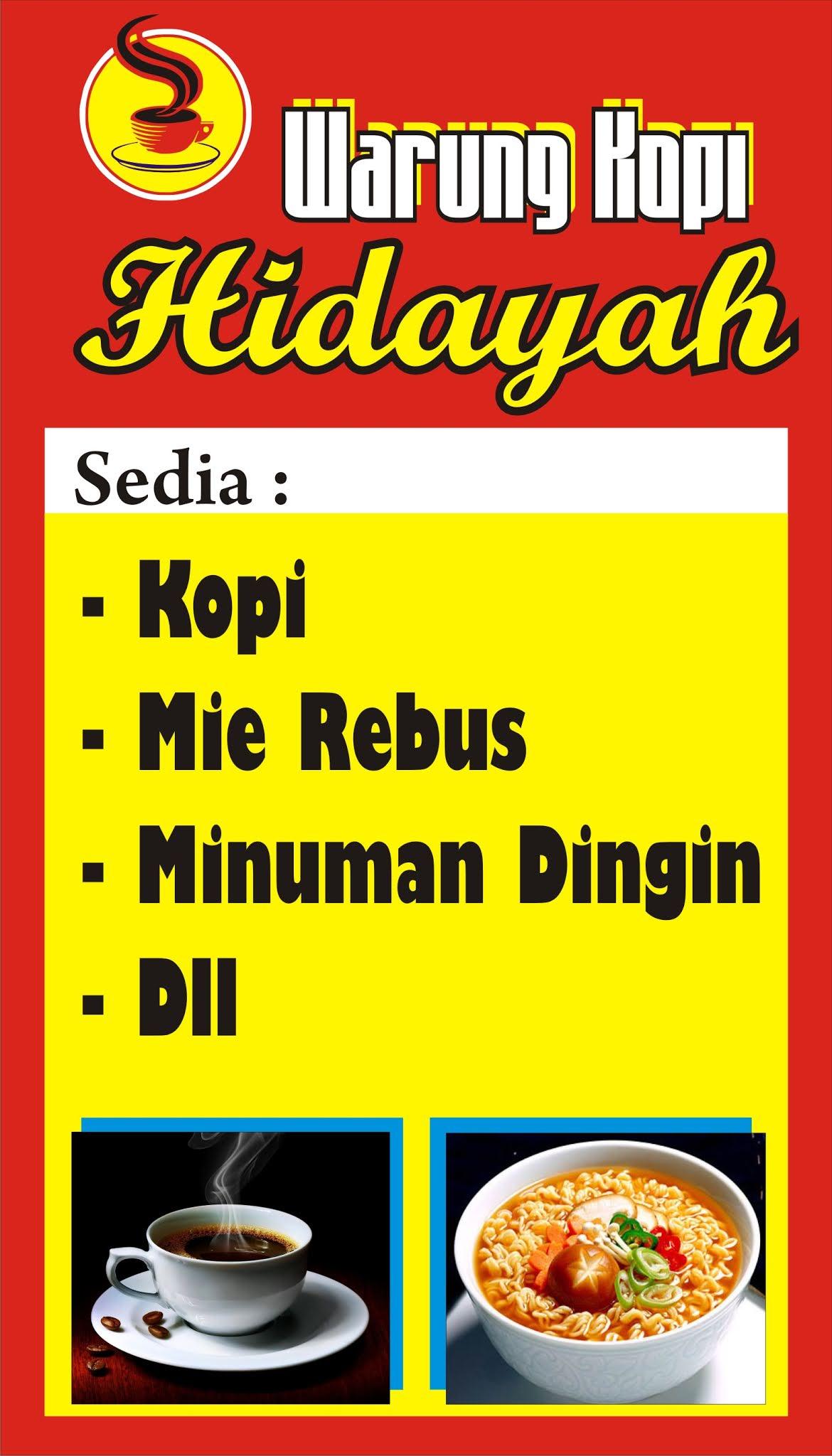 Banner Warung Kopi : banner, warung, Download, Contoh, Spanduk, Warung, Kopi.cdr, KARYAKU