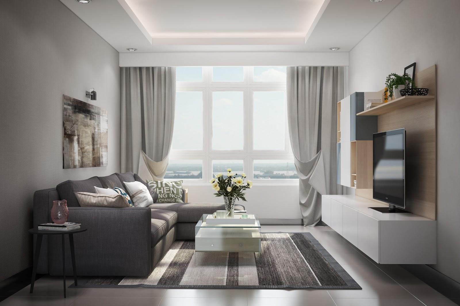 Chọn rèm cửa phòng khách đẹp phù hợp với không gian