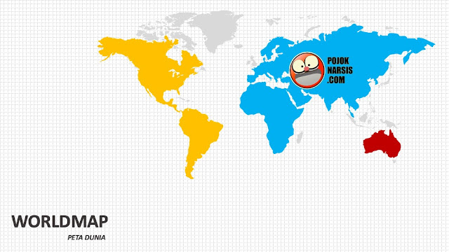 Wold map silde PPT