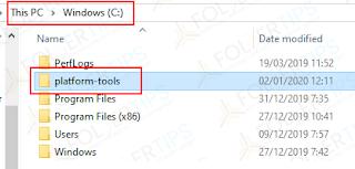 C: \ platform-tools drive
