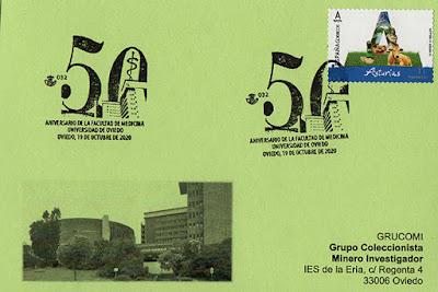 tarjeta, matasellos, sello, tu sello, facultad, medicina, Oviedo