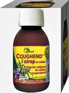 COUGHEND pareri sirop Ayurmed remediu natural afectiuni respiratorii