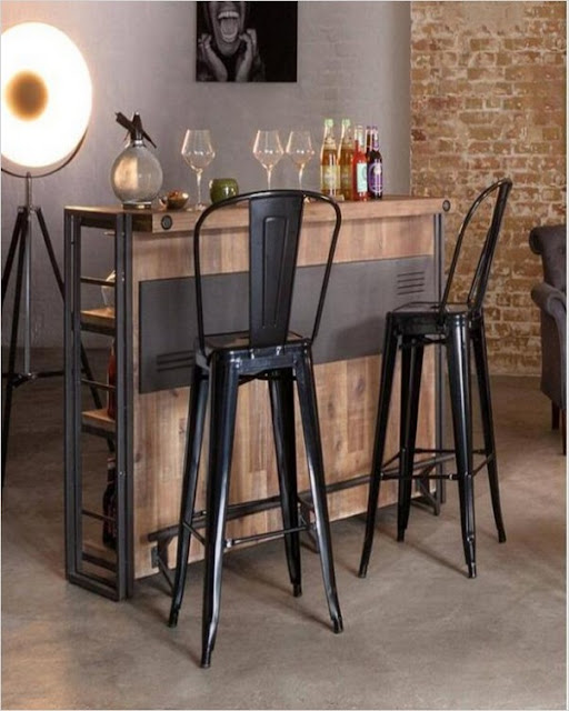 kitchen island rustic table with/ bar stools for sale