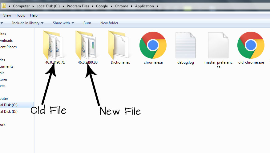 How to remove Google Chrome older version after install the