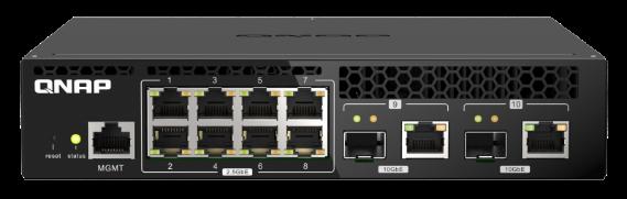 QNAP introduz série QSW-M2108R-2C de switches L2