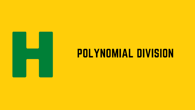 HackerRank Polynomial Division problem solution