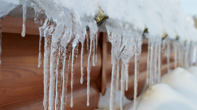 icicles, ice storm