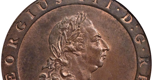 British Coins One Penny 1797 King George III - Cartwheel Penny