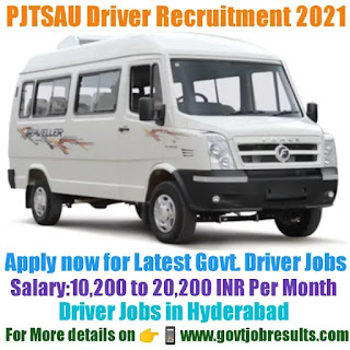PJTSAU Driver Recruitment 2021-22