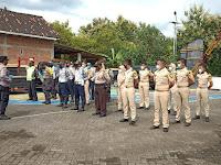 Polsek Slahung Polres Ponorogo Dampingi Taruna STTD PKL Di Wilayah Kec. Slahung