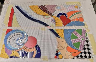 Trittstein aus Mosaik