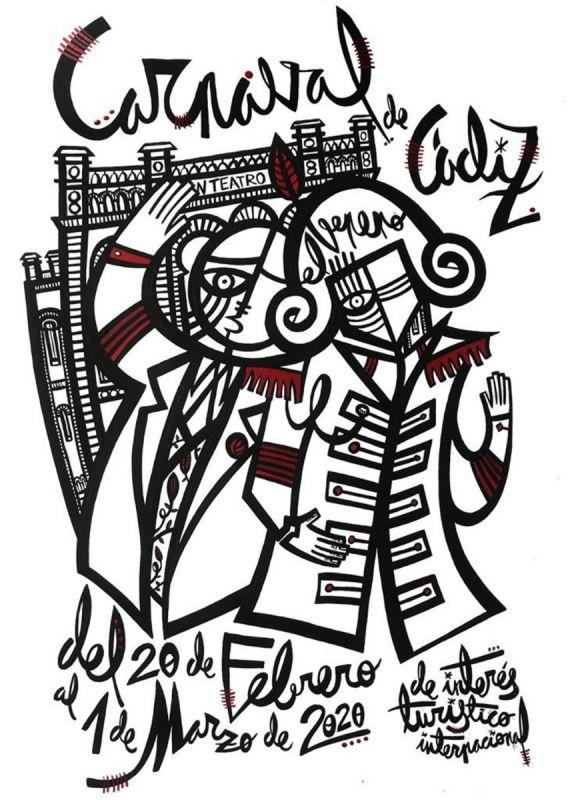 Estos carteles optan a ser el oficial del Carnaval de Cádiz 2020