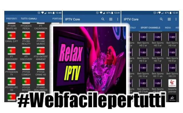 Relax IPTV | Applicazione Android Con oltre 8000 canali TV da tutto il mondo