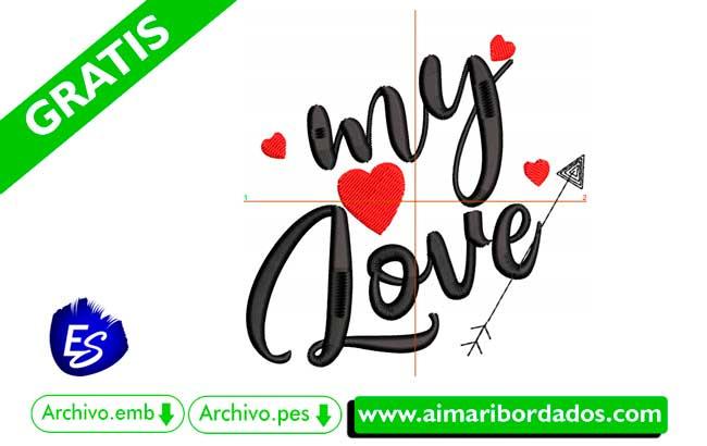 Bordado my love   Descargar bordado wilcom gratis